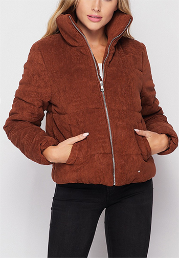 $25 - Cute cheap a bomber jacket in a faux sherpa fabrication featuring a high neck - high neck quilted corduroy puffer jacket