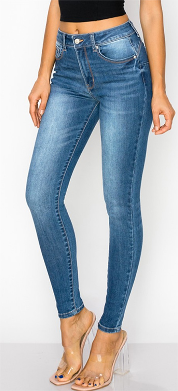 $13.50 - Cute cheap skinny jeans - high-rise, push-up skinny in super-soft recycled REPREVE denim.