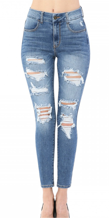$27.50 - Cute cheap high-rise skinny in super-soft recycled REPREVE denim.