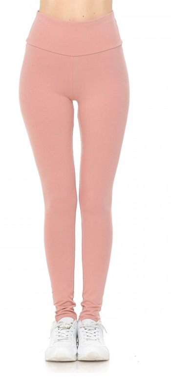 $9 - Cute cheap high waist knit leggings fold over waist band
