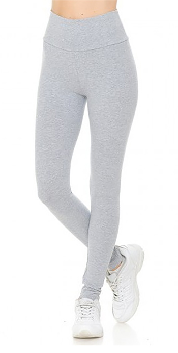 $6.00 - Cute cheap high waist knit leggings fold over waist band