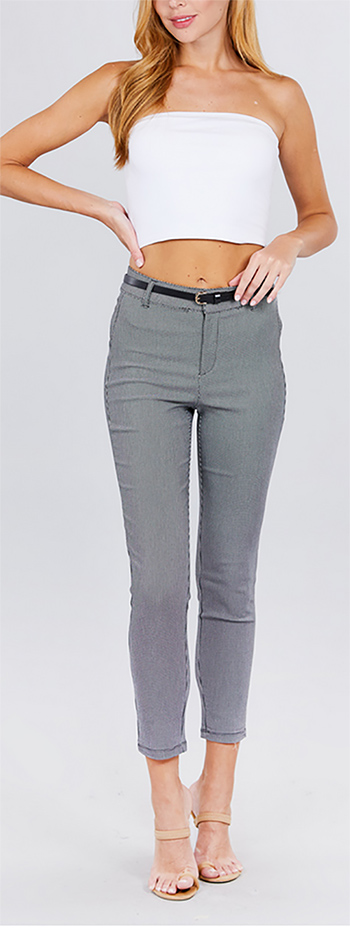 $19.50 - Cute cheap premium quality denim pants 1600530032865 - jacquard bengaline belted long pants