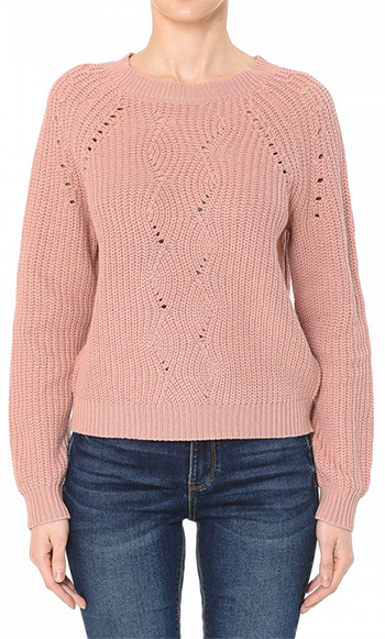 $17.50 - Cute cheap sweater top - jacquard pointless sweater