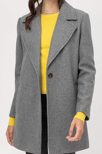 $25.00 - Cute cheap clothes - jq fleecesingle breasted coat