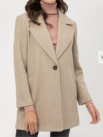 $25.00 - Cute cheap jq fleecesingle breasted coat