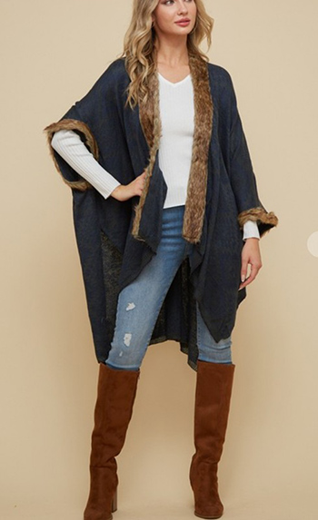 $25.00 - Cute cheap clothes - Kimono Open Cardigan with Aztec Pattern