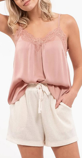 $15.75 - Cute cheap lace cami top