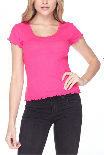 $6.00 - Cute cheap tee - lace-trimmed scoop neck tee