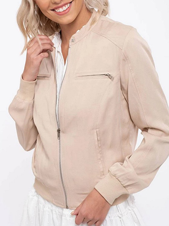 $19.50 - Cute cheap a hooded anorak jacket in a washed cotton twill fabrication - Lightweight Bomber Jacket
