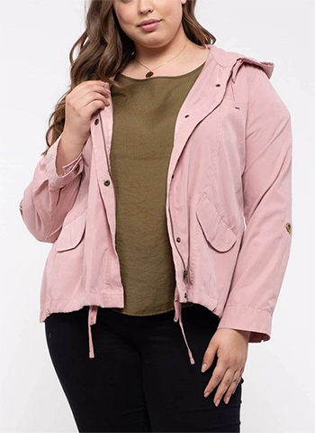 $27.50 - Cute cheap top - lightweight plus size hooded jacket
