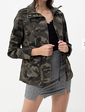 $23.50 - Cute cheap red long sleeve tunic - Long Sleeve Camo Military Cotton Anorak Jacket