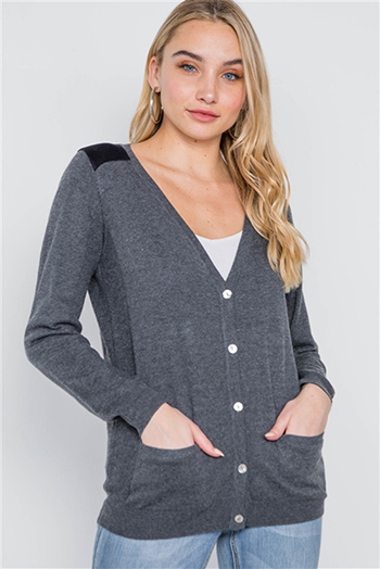 $17.50 - Cute cheap crochet long sleeve sweater - long sleeve knit button cardigan