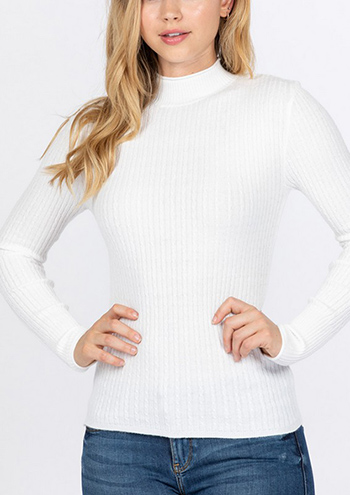 $15.50 - Cute cheap fall - long sleeve mock neck sweater