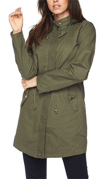 $12.00 - Cute cheap longline hooded anorak jacket