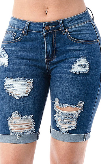 $27.50 - Cute cheap medium wash bermuda denim pants