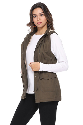 $24.50 - Cute cheap military vest with fur inside