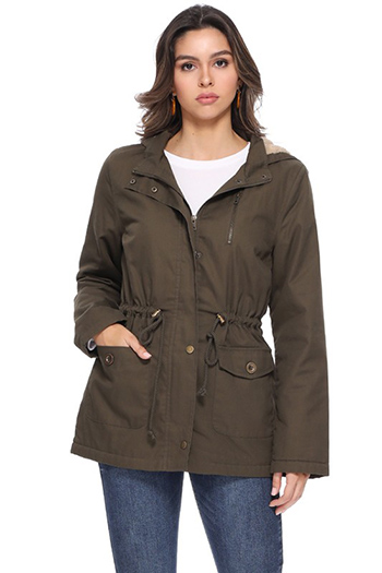 $27.50 - Cute cheap miltary hooded jacket with fur insise