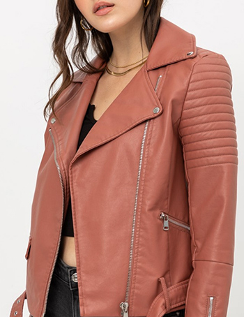 $42.00 - Cute cheap top - non-stretch pu jacket