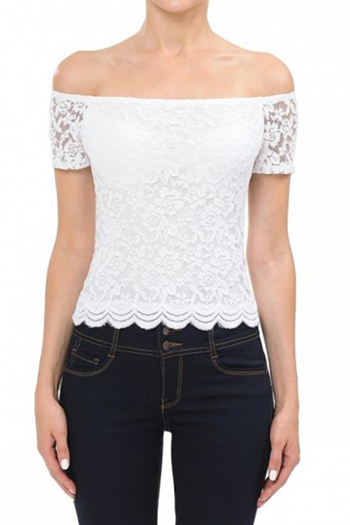 $7.50 - Cute cheap off shoulder short sleeve top