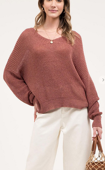 $16.25 - Cute cheap open back twist sweater