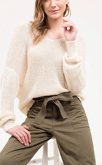 $16.75 - Cute cheap fall - open back twist sweater