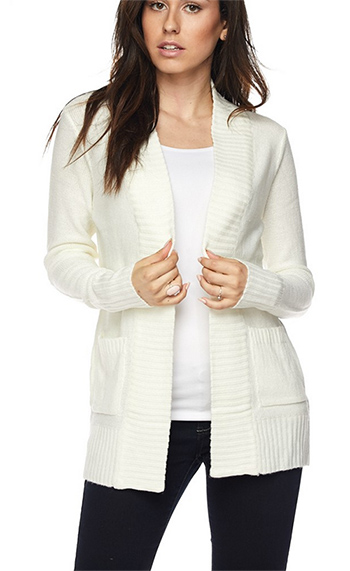 $19.50 - Cute cheap sweater top - open sweater with pocked cardigan
