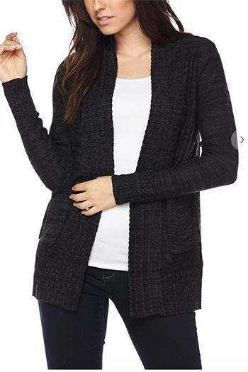 $19.50 - Cute cheap open sweater with pocked cardigan