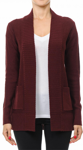$19.50 - Cute cheap pocketed cardigan - open sweater with pocketed cardigan