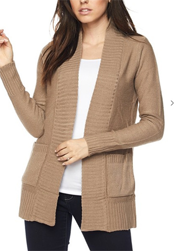 $19.50 - Cute cheap open sweater with pocketed cardigan