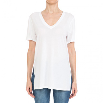 $7.25 - Cute cheap oversied v neck short sleeve top