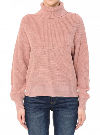 $22.50 - Cute cheap fall - oversixzed turtleneck long sleeve sweater