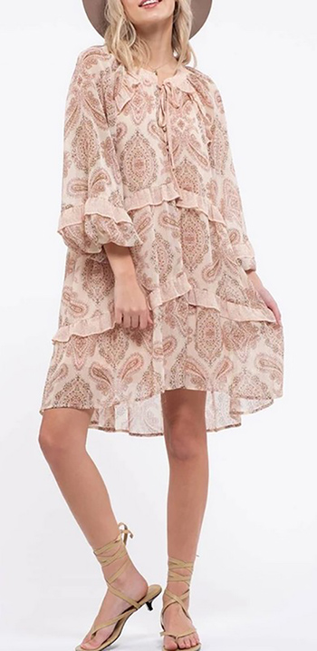 $35.00 - Cute cheap mini dress - paisley ruffle mini dress.