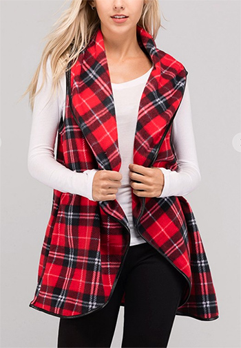 $24.50 - Cute cheap jacket - plaid long vest