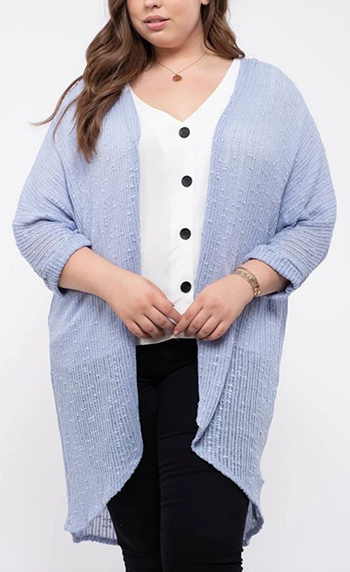 $32.50 - Cute cheap plus size long cardigan