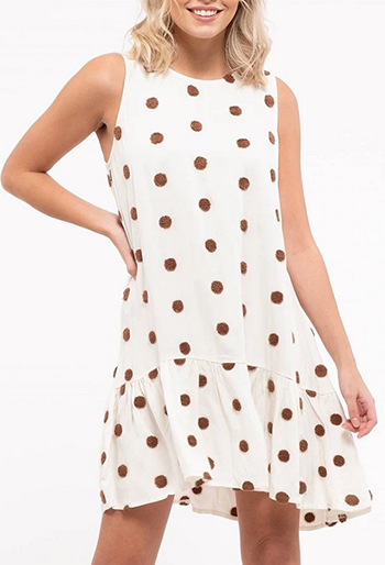 $31.50 - Cute cheap pom-pom sleeveless mini dress