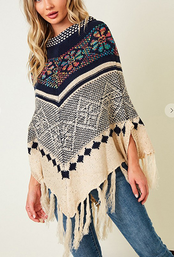 $19.75 - Cute cheap Poncho Sweater