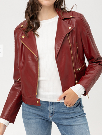 $20.50 - Cute cheap fall - pu moto jacket