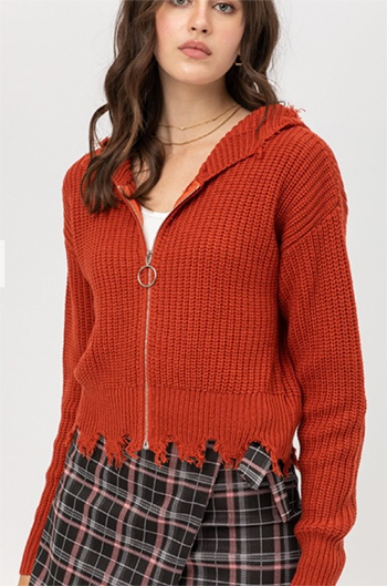 $21.00 - Cute cheap fall - rare edge sweater zip up hoodie