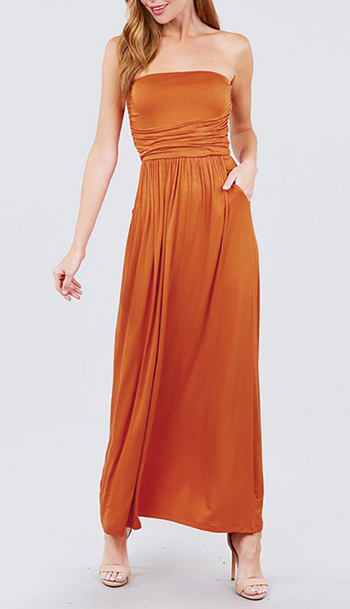 $21.50 - Cute cheap rayon modal tube maxi dress