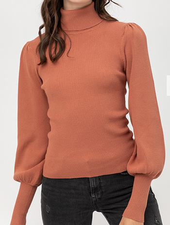 $19.99 - Cute cheap rib puff sleeve sweater