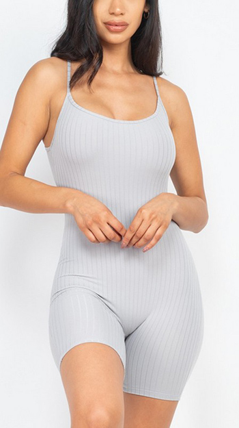 $13.50 - Cute cheap jumpsuit - ribbed bodycon romper
