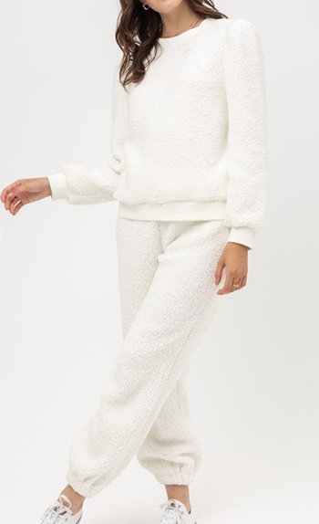 $34.50 - Cute cheap sherpa top and pants set
