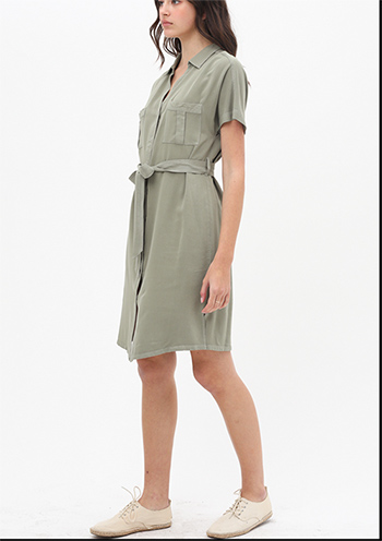 $22.50 - Cute cheap short sleeve front waist tie dress