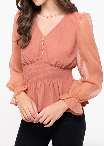 $15.75 - Cute cheap Solid knit top V neckline