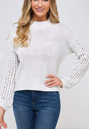 $21.50 - Cute cheap Solid round neck long sleeve sweater