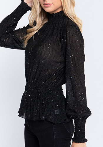 $17.25 - Cute cheap clothes - sparkle crinkled woven top