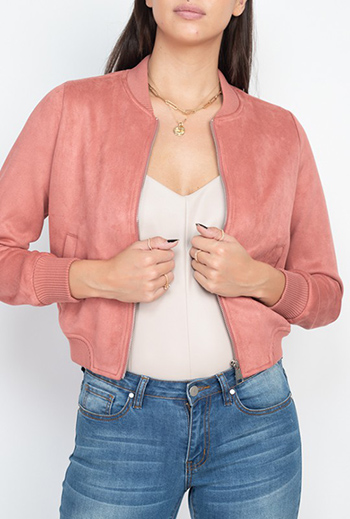 $22.00 - Cute cheap fall - suede zip front bomber jacket