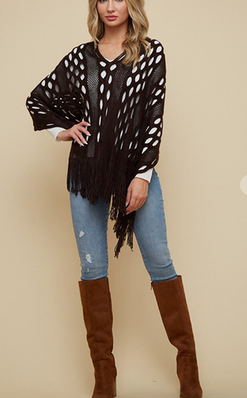 $17.50 - Cute cheap Sweater Poncho.