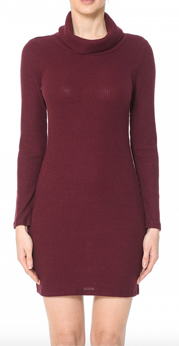 $15.75 - Cute cheap turtleneck long sleeve bodycon dress