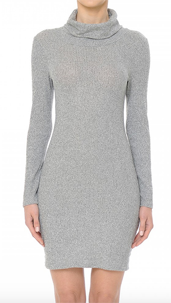 $17.00 - Cute cheap dress sale - turtleneck long sleeve bodycon dress
